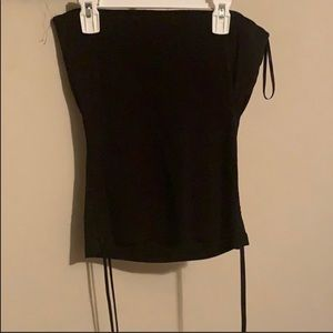 Express strapless top size M